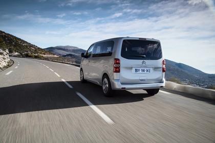 Citroën Spacetourer Aussenansicht Heck schräg dynamisch silber
