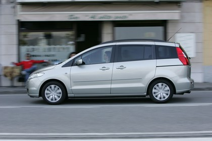 Mazda 5 Aussenansicht Seite dynamisch grau