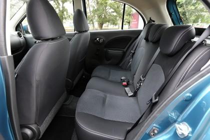 Nissan Micra K13 Innenansicht statisch Rücksitze