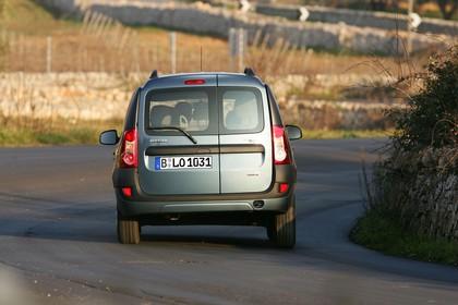 Dacia Logan MCV Aussenansicht Heck dynamisch blau