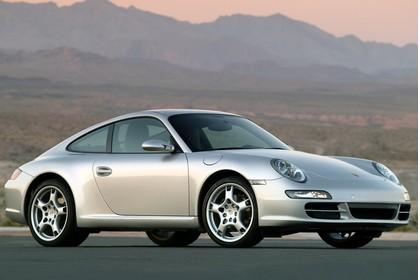 Porsche 911 Carrera 997.1 Aussenansicht Seite schräg silber