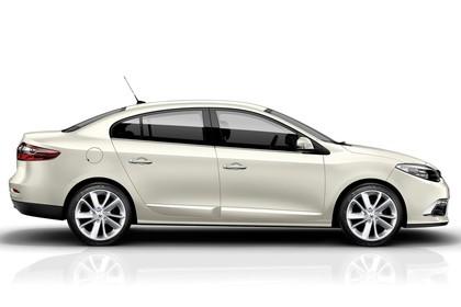 Renault Fluence Z Facelift Aussenansicht Seite statisch Studio beige