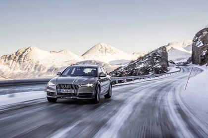 Audi A6 C7 Allroad Aussenansicht Front dynamisch silber