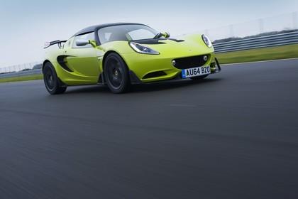 Lotus Elise S Cup 3 Aussenansicht Front schräg dynamisch grün