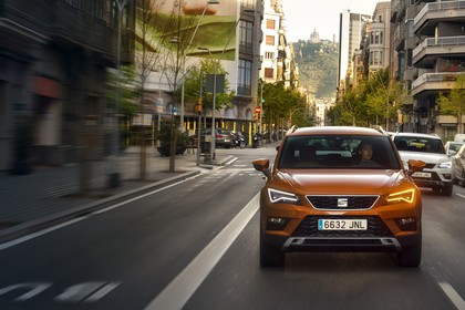 SEAT Ateca KH Front dynamisch orange