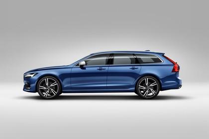 Volvo V90 P Aussenansicht Seite statisch Studio blau