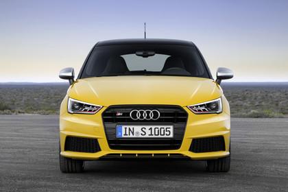 Audi S1 Sportback Aussenansicht Front statisch gelb