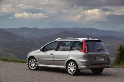 Peugeot 206 SW 2 Aussenansicht Seite schräg statisch silber
