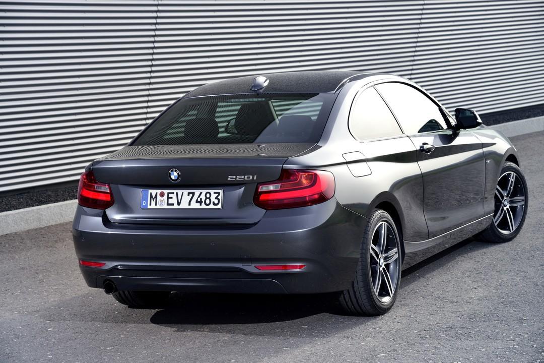 Bmw 2er Coupe F22 Aussenansicht Heck Schräg Statisch Grau