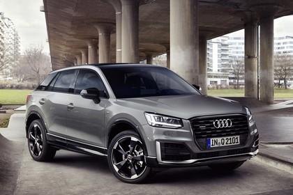 Audi Q2 Aussenansicht Front schräg statisch grau