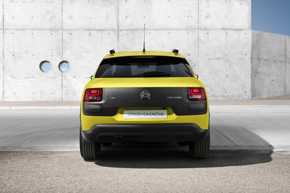 Citroën C4 Cactus Aussenansicht Heck statisch gelb