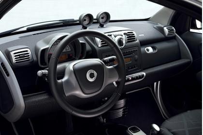 Smart Fortwo C451 Innenansicht Fahrerposition statisch schwarz