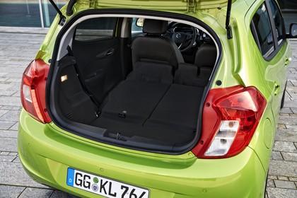 Opel Karl Innenansicht Kofferraum statisch schwarz grün