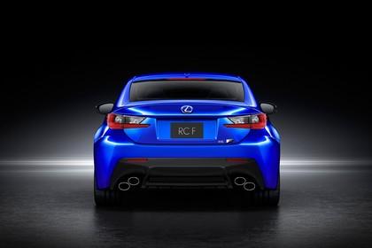 Lexus RC F X10 Aussenansicht Heck statisch Studio blau