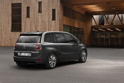 Citroën Grand C4 Picasso 2 Aussenansicht Heck schräg statisch grau