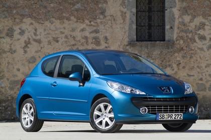 Peugeot 207 W Dreitürer Aussenansicht Front schräg statisch blau