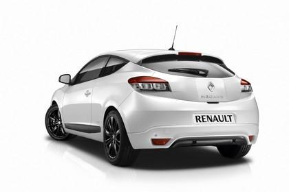 Renault Mégane Coupé Z Aussenansicht Heck schräg statisch Studio weiss