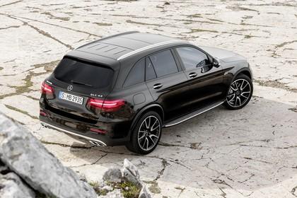 Mercedes-AMG GLC 43 4MATIC X253 Aussenansicht Heck schräg erhöht statisch schwarz