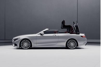Mercedes-Benz S-Klasse Cabriolet A207 Aussenansicht Seite statisch silber