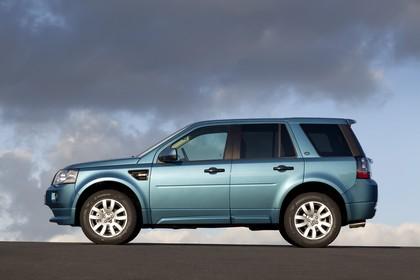 Land Rover Freelander 2 LF Facelift Aussenansicht Seite statisch blau