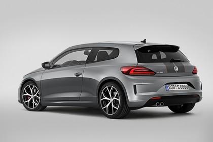 VW Scirocco Typ 13 GTS Aussenansicht Heck schräg statisch grau