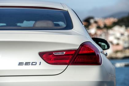 BMW 6er Gran Coupe F06 Aussenansicht Detail Rücklicht statisch weiss
