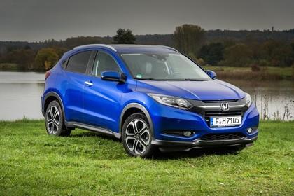 Honda HR-V RU Aussenansicht Front schräg statisch blau
