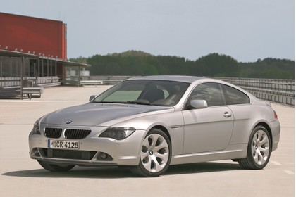 BMW 6er Coupé E63 Aussenansicht Front schräg statisch grau