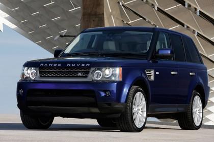 Land Rover Range Rover Sport LS Aussenansicht Front schräg statisch blau