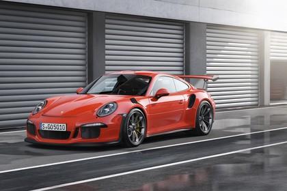 Porsche 911 GT3 RS 991.2 Aussenansicht Front schräg statisch rot