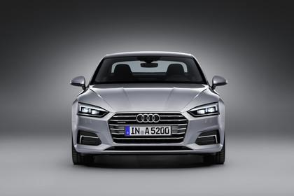 Audi A5 Coupe Aussenansicht Front Studio statisch silber