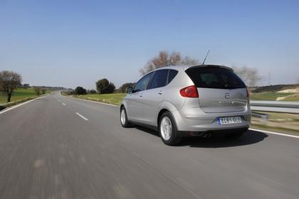 SEAT Altea 5P Facelift Aussenansicht Heck schräg dynamisch silber