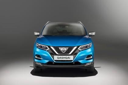 Nissan Qashqai J11 FL Aussenansicht Front statisch Studio blau