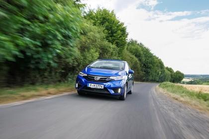 Honda Jazz GK Aussenansicht Front schräg dynamisch blau