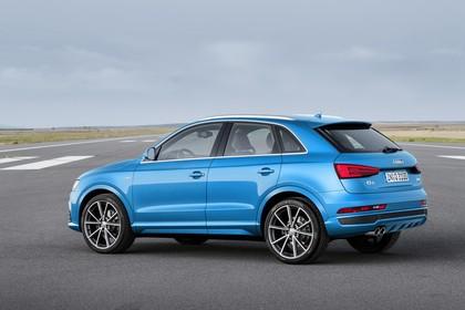 Audi Q3 Aussenansicht Seite schräg statisch blau