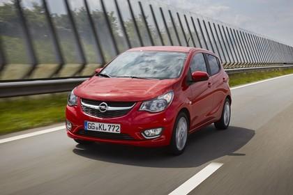 Opel Karl Aussenansicht Front schräg dynamisch rot