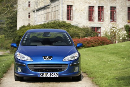 Peugeot 407 6 Limousine Aussenansicht Front statisch blau