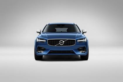 Volvo V90 P Aussenansicht Front statisch Studio blau