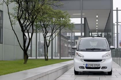 Smart Fortwo Cabrio A451 Aussenansicht Front statisch weiß