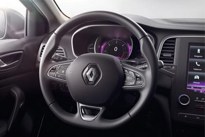 Renault Mégane Grandtour IV Innenansicht statisch Detail Lenkrad und Tacho