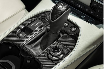 Maserati GranCabrio Innenansicht statisch Detail Schalthebel