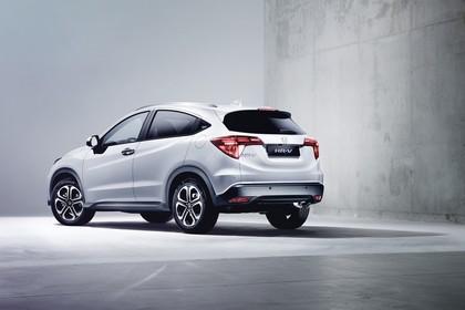 Honda HR-V RU Aussenansicht Heck schräg statisch Studio weiss