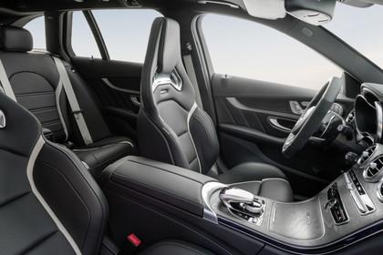Mercedes AMG C-Klasse W205 Innenansicht Sportsitze Studio statisch schwarz