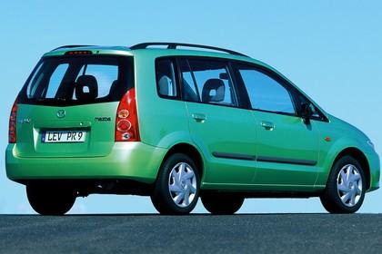 Mazda Premacy CP Aussenansicht Heck schräg statisch grün