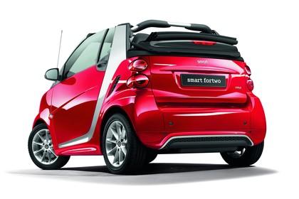 Smart Fortwo Cabrio A451 Studio Aussenansicht Heck schräg statisch rot