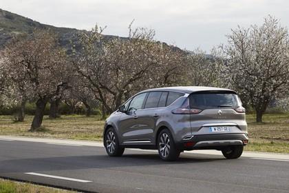 Renault Espace RFC Aussenansicht Heck schräg dynamisch grau