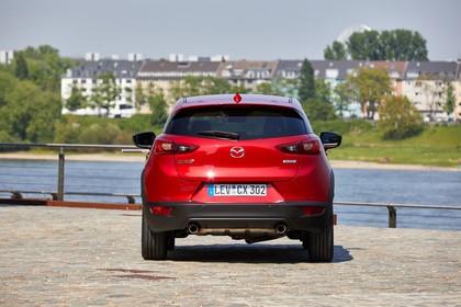 Mazda CX-3 DJ1 Aussenansicht Heck statisch rot
