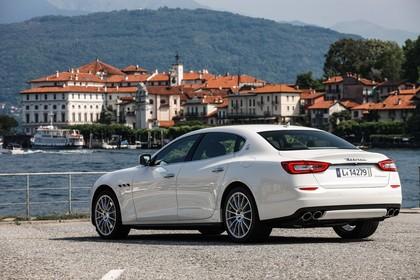 Maserati Quattroporte Aussenansicht Heck schräg statisch weiss