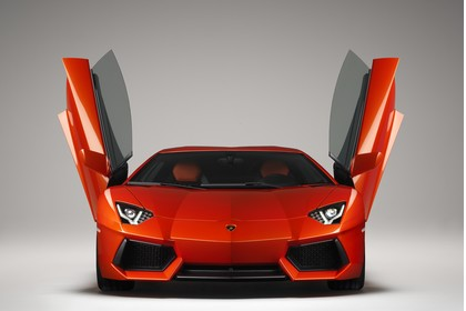 Lamborghini Aventador Aussenansicht Front statisch Studio orange