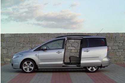 Mazda 5 Aussenansicht Seite statisch grau